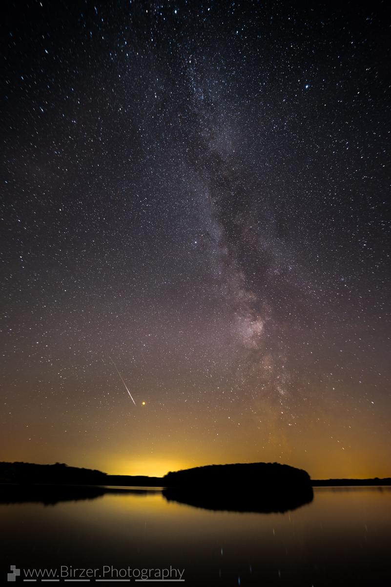 Milky Way, Mars and Peseids